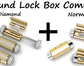 3D Round Bracelet Lock Box Combo Normal and with