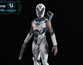 Sci Fi Trooper Game Ready 3D model