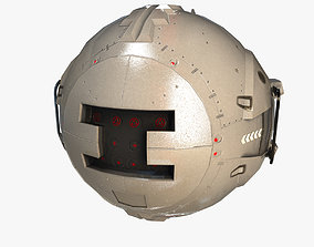 3D asset low-poly Robot Ball