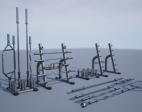 3D asset Training Bar Storage Holder