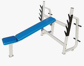 element 3D Gym Incline Bench Press Machine - Low Poly