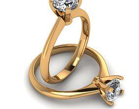 3D print model Ring one stones