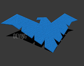 3D printable model Nightwing chest emblem for cosplay