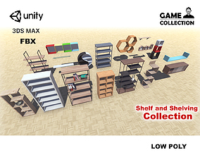 3D model Shelf and Shelving Collection