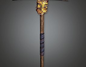 3D model Post Apocalyptic Pickaxe - PAM - PBR Game