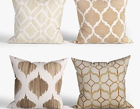 Decorative pillows set 028 3D