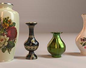 PBR Vintage Decor Vases 3D model