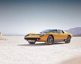 Italian classic sport car 3D model