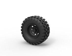 Diecast Offroad wheel 25 3D printable model