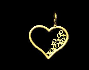 heart pendant 3D print model anhanger