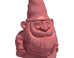 Pink Gnome Sculpture 3D model