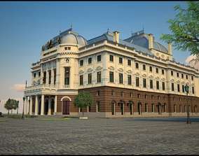 architecture 3D Slovak National theater