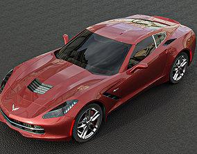 corvette 3d model car