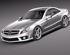 3D model Mercedes SL65 AMG 2010