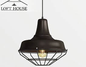 LOFT HOUSE 3D rigged hanging-lamp