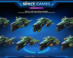 3D asset RTS - Space Games - Modular parts