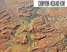 Canyon landscape 3D