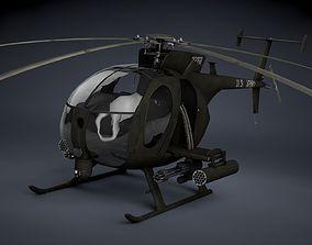 3D model MH-6 Little Bird Gunship