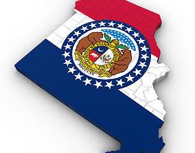 Missouri Political Map 3D model