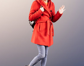 11630 Bella - Young Woman In Coat Walking And 3D model 1