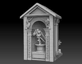 character 3D print model Miniature Display Case