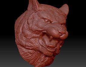 animal 3D printable model tiger head