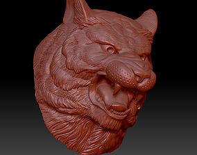 3D print model tiger head