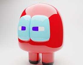 Among Us character 3D asset