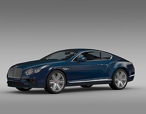 3D Bentley Continental GT V8 2017