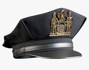 3D asset Policeman Cap Class B Summer