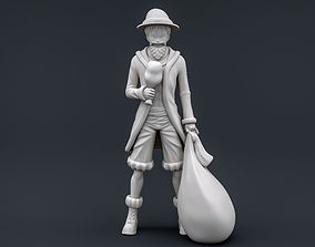 Santa Luffy onepiece 3D printable model