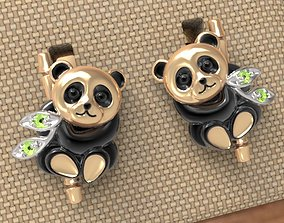 Baby panda earrings 3D printable model