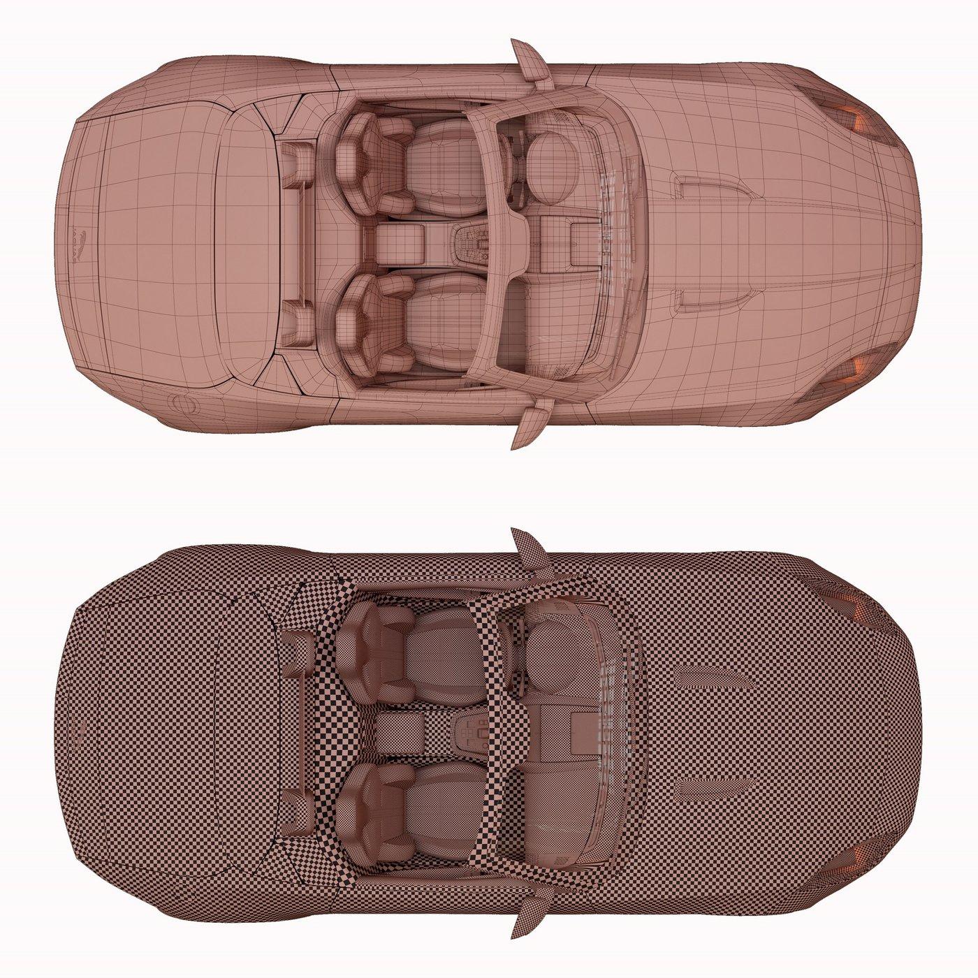 Jaguar F TYPE With HQ Interior 3D model