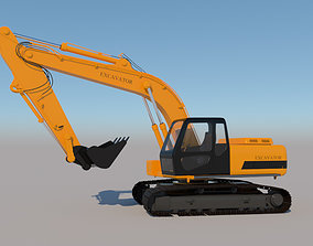 3D model Full Rigged Excavator