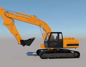 3D model Full Rigged Excavator