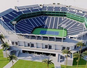Indian Wells Tennis Garden - Stadium 1 3D model