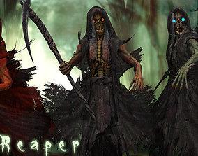 Grim reaper 3D asset