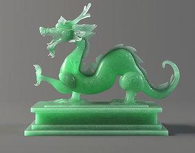 carved model jade seal Panlong Dragons 3D
