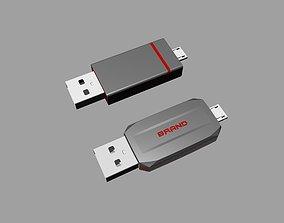 3D printable model Grey and red OTG U Disk B