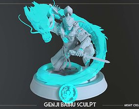 Overwatch collectible Genji Baihu figurine mini for 3d