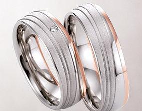 3D printable model Wedding rings 065