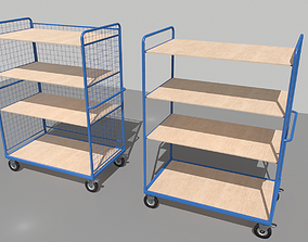3D model Warehouse Trolley pack 1