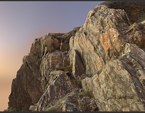 Alpine rock - scanned 3d model low-poly