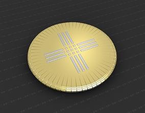 christian medallion 3D printable model Cross Medallion