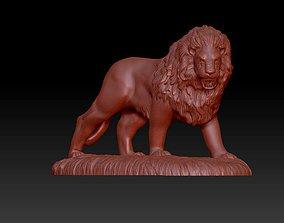 3D print model lion action