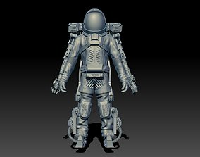 Si-fi spacesuit High-poly 3D model