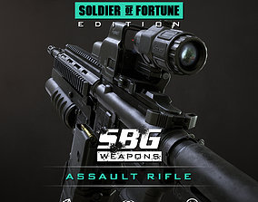 SBG Assault Rifle - Soldier of Fortune Edition 3D model