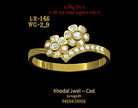 fashion-and-beauty ladies ring 3D model game-ready