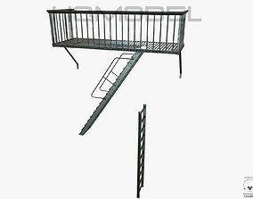 3D Urban Balcony PBR