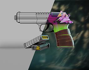stylized Glock Low-poly 3D model VR / AR ready